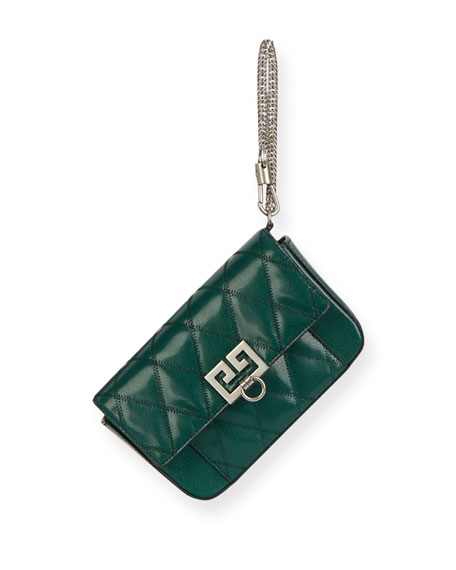 b42f2132c26 Image 5 of 5: Givenchy Pocket Mini Pouch Convertible Clutch/Belt Bag -  Silvertone