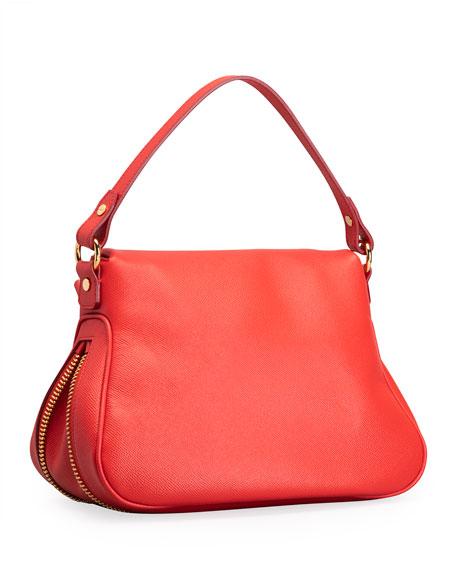 TOM FORD Jennifer Medium Grained Leather Shoulder Bag