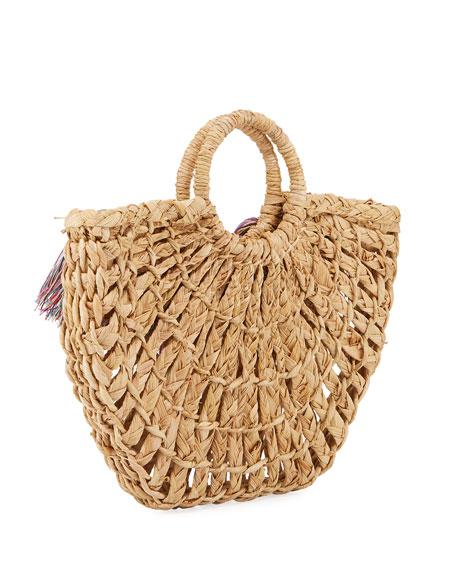 Nannacay Maria Leque Fringe Large Tote Bag