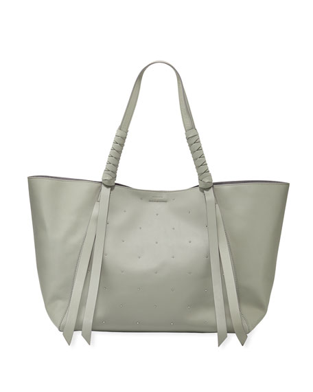 AllSaints Kathi E W Studded Leather Tote Bag  4780378b297ee