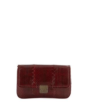 a27a274cebc0b1 Bottega Veneta Ayers Snakeskin Wallet on Chain from Neiman Marcus ...