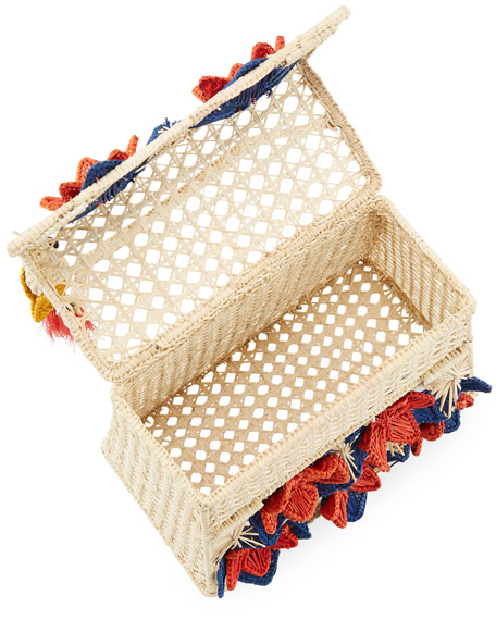 Mercedes Salazar Iraca Palm Threaded Straw Top-Handle Bag