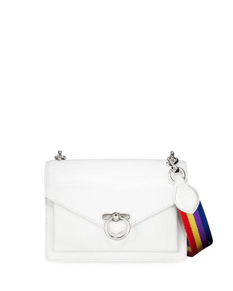 Rebecca Minkoff Jean Medium Leather Shoulder Bag with Rainbow Strap