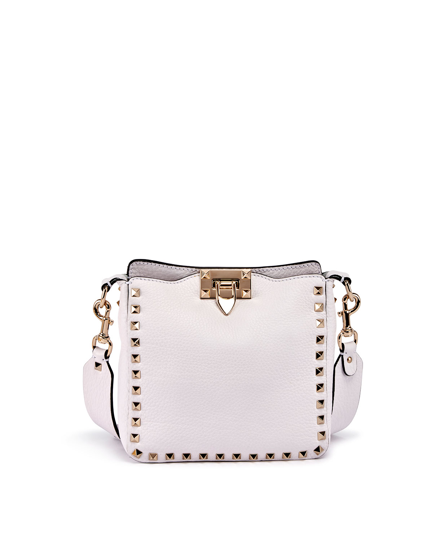 f8a8289997982 Valentino Garavani Rockstud Mini Vitello Stampa Leather Hobo Bag ...
