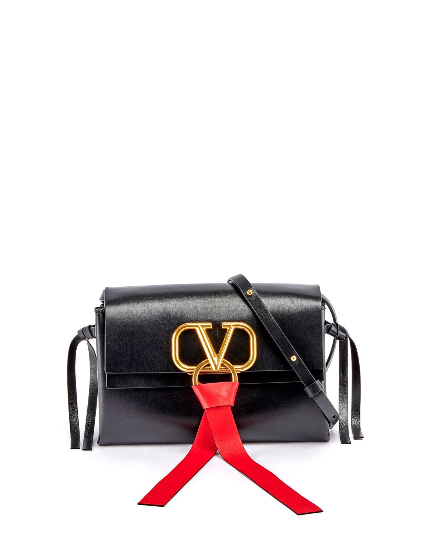 0a03950087 Valentino Garavani VRING Leather Crossbody Bag | Neiman Marcus