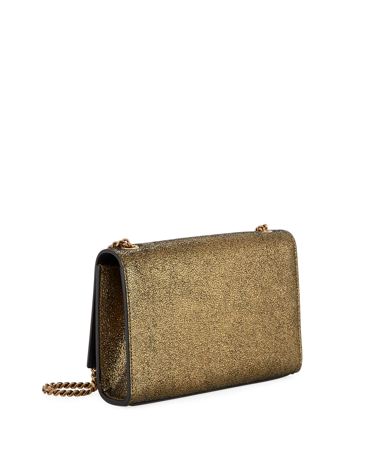 Kate Monogram Ysl Small Metallic Leather Crossbody Bag by Saint Laurent