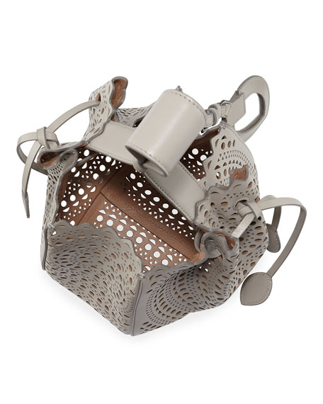 Image 2 of 3: ALAIA Rose Marie Small Bucket Bag