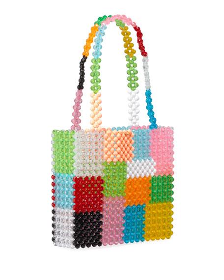Susan Alexandra Ash Colorblock Beaded Top-Handle Bag
