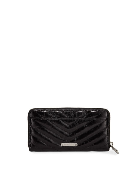 Rebecca Minkoff Edie Quilted Leather Continental Wallet