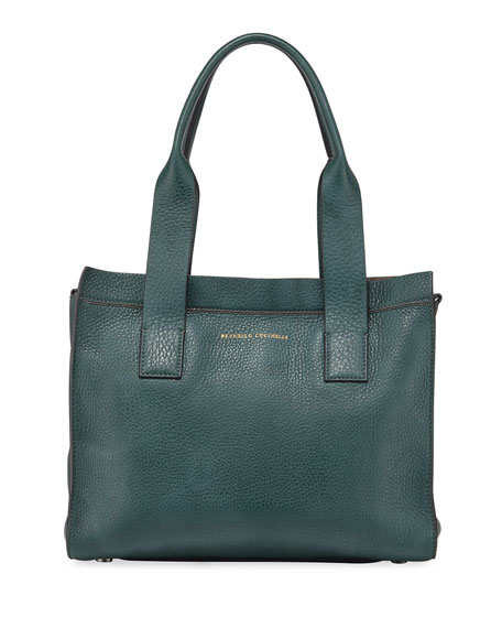 Brunello Cucinelli Small Leather Top-Handle Tote Bag