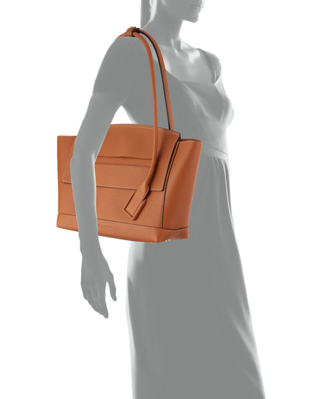 Bottega Veneta Arco 48 Palmellato Leather Top-Handle Bag
