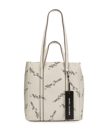 The Marc Jacobs x New York Magazine The Tag Logo Leather Tote Bag