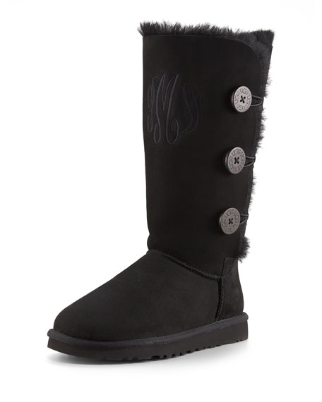 Bailey Triple Button Boot, Black