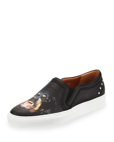 Rottweiler Star-Heel Skate Shoe, Black Multi