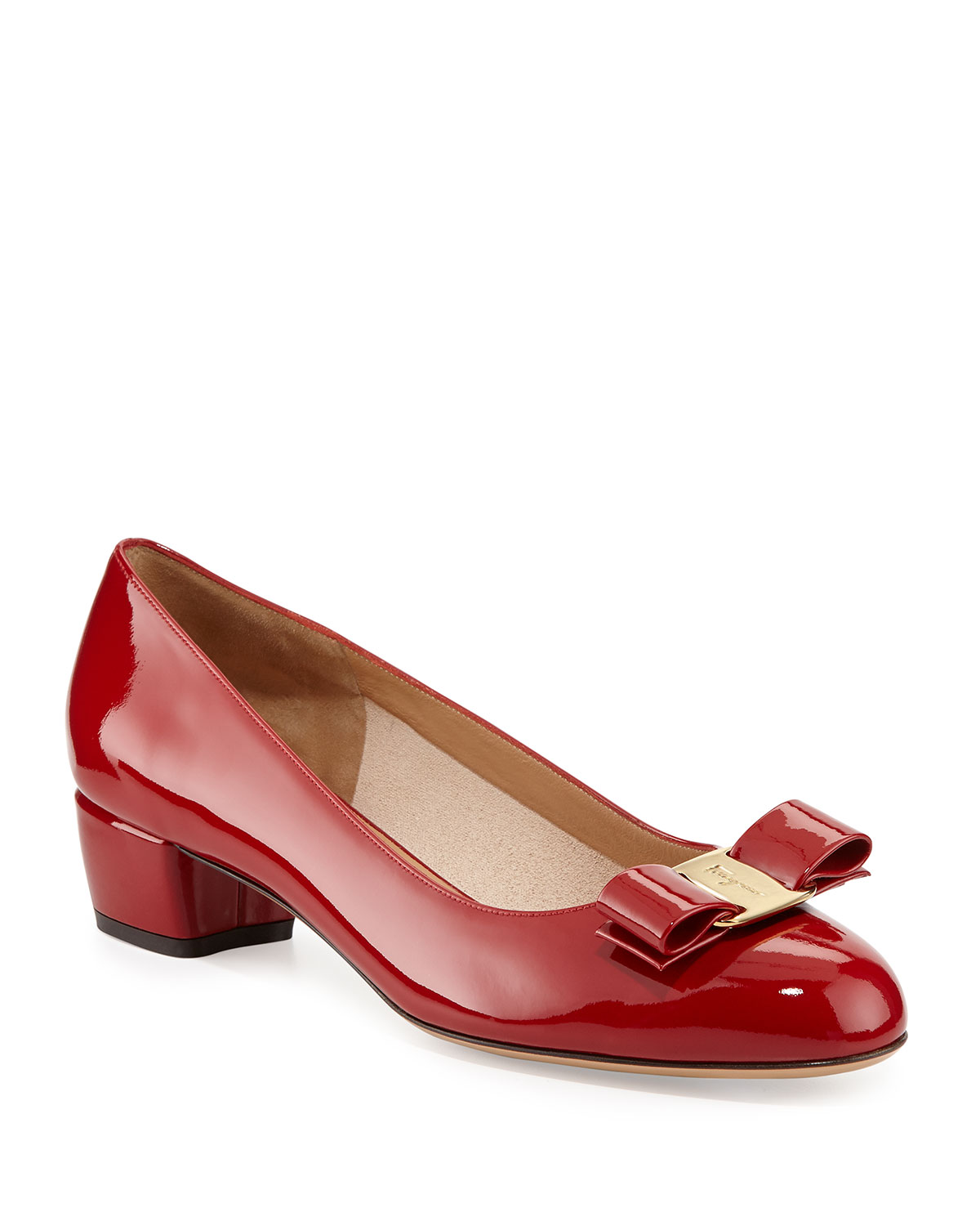 5461a05b004 Vara 1 Patent Bow Pumps, Red (Rosso)