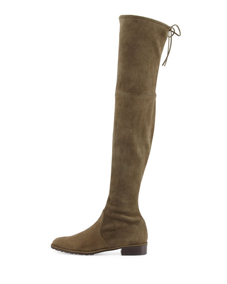 Lowland Suede Over-the-Knee Boot, Loden