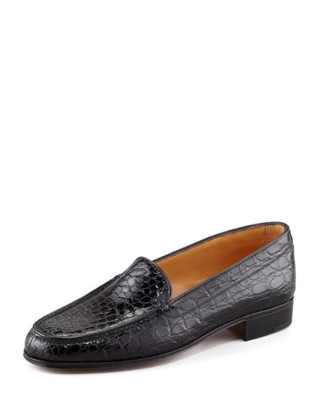 Gravati Crocodile Loafer, Black