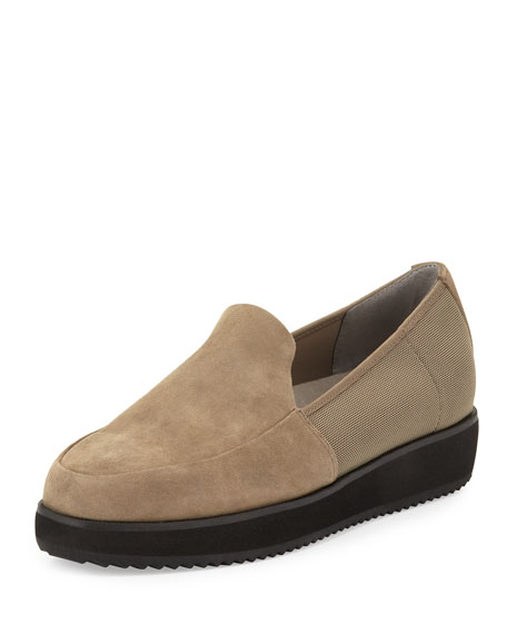 Eileen Fisher Dell Suede Slip-On Loafer