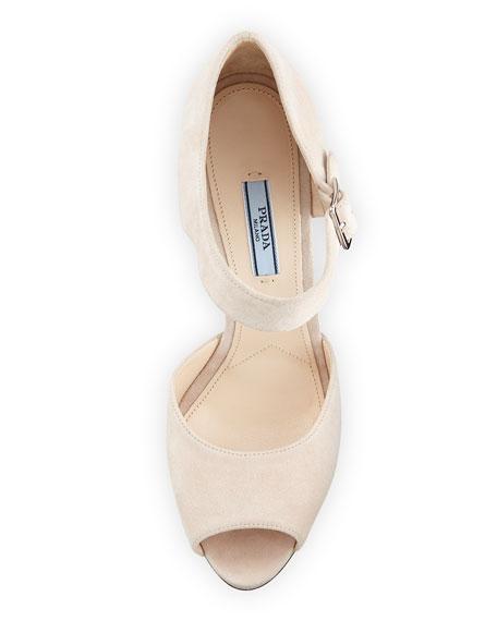 Mary Jane High Heel Sandal, Cipria/Platino