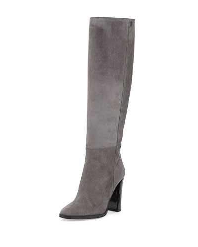 Haywood Suede Knee Boot, Mist