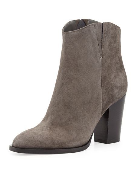 Vince Erving Western Ankle Bootie, Charcoal