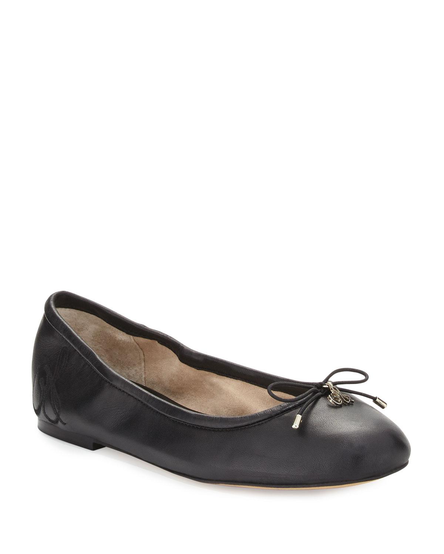 90d4a82988df Sam Edelman Felicia Classic Ballet Flats, Black | Neiman Marcus