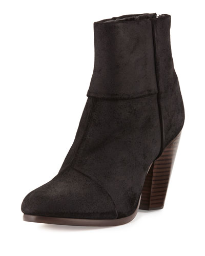 Newbury Leather Ankle Boot, Black