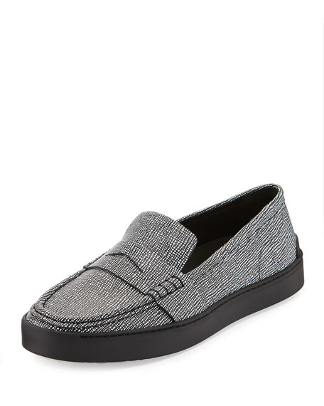 Rag & Bone Colby Leather Sneaker Loafer, Black/White