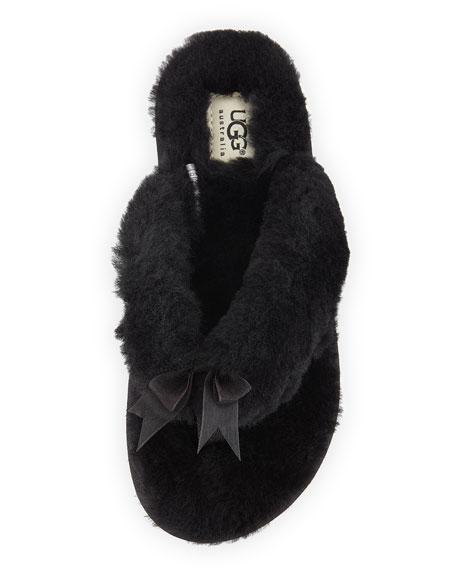 Fluff II Shearling Fur Flip-Flop Slipper