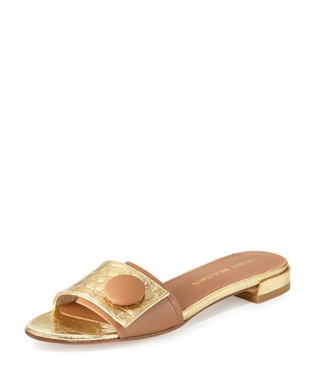 Stuart Weitzman Embossed Slide Sandals best place p3m2fE