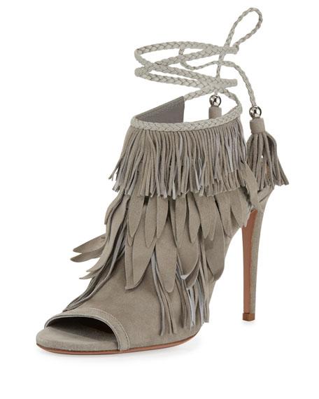 Aquazzura Suede Fringe Sandals cheap limited edition 1hDAaAQKc