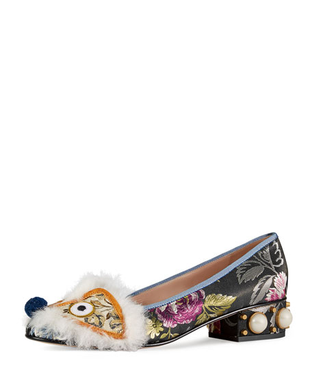 Gucci Kimberly Dragon Ballerina Flat, Multi