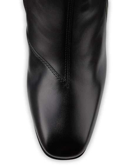 Dionysus Embroidered Knee Boot, Nero