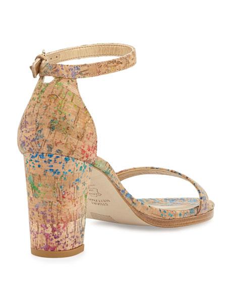 Nearlynude Printed Cork City Sandal, Confetti