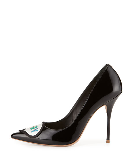 Sophia Webster Boss Lady Patent Leather Pump, Black