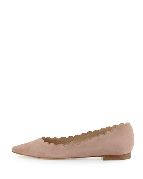 Srila Scalloped Pointed-Toe Flat