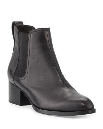 Walker Leather Ankle Boots  Black