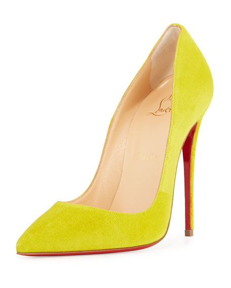 So Kate Suede 120mm Red Sole Pump