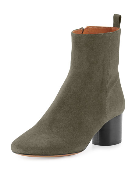 Isabel Marant Deyissa Suede Ankle Boot, Taupe