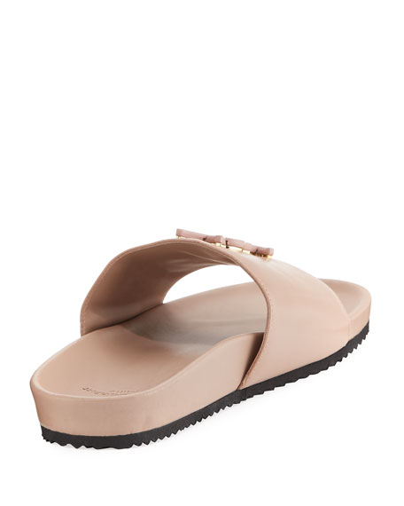 Joan YSL Brooch Slide Sandal