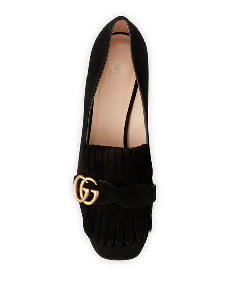 Marmont Fringe Suede 55mm Loafer