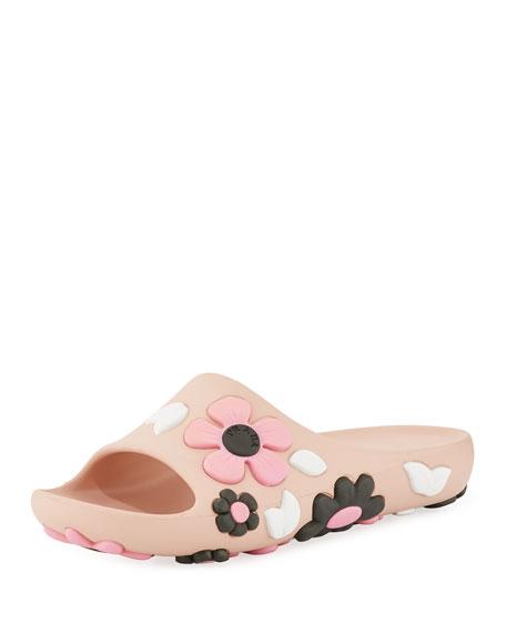 Rubber Flower Slide Sandal