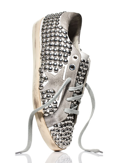 Superstar Old Studded Low-Top Sneaker, White