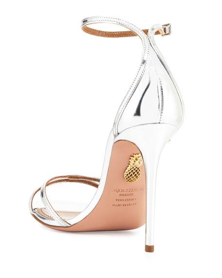Purist Metallic Specchio Sandals, Silver