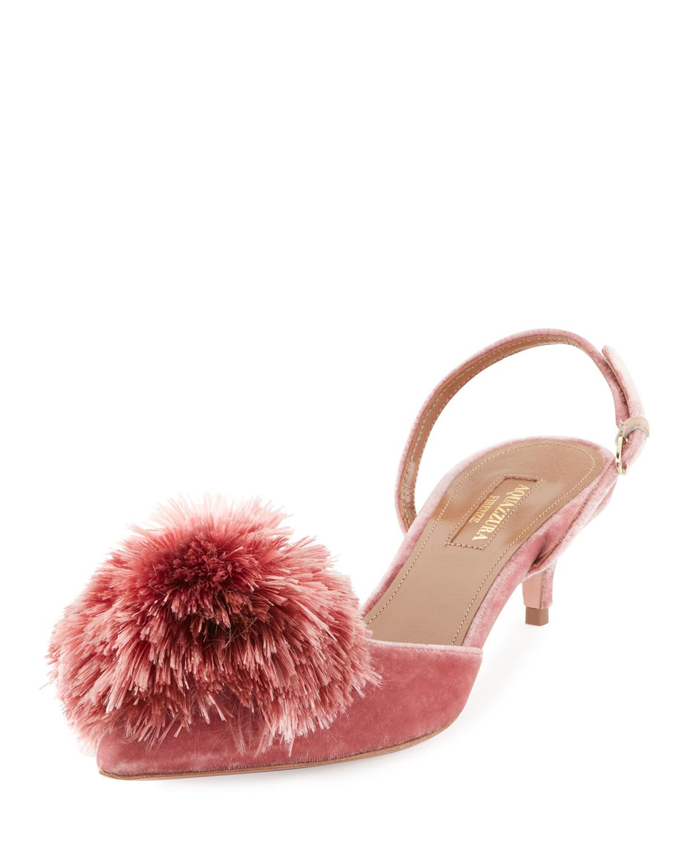 aquazzura pink shoes