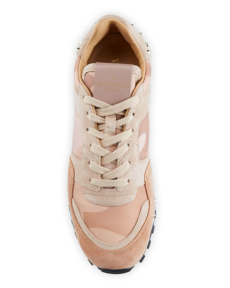 Rockstud Camo Trainer Sneaker