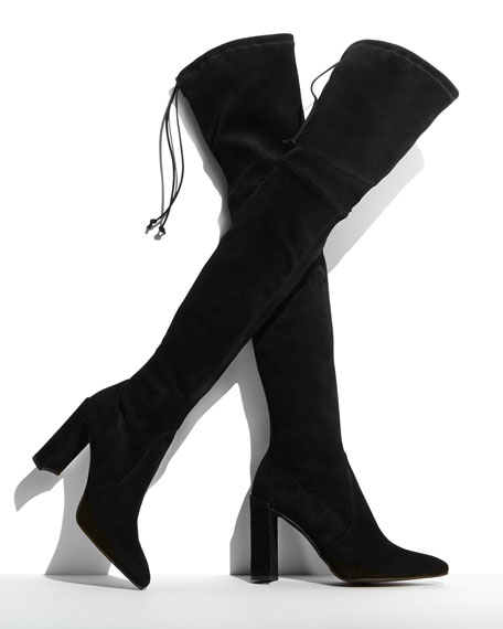 Image 2 of 5: Highchamp Suede Over-the-Knee Boot