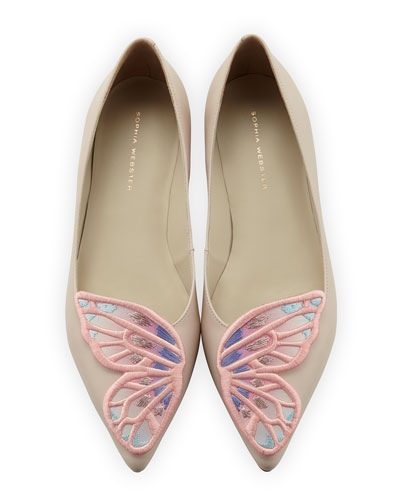 Bibi Butterfly Embroidered Flat