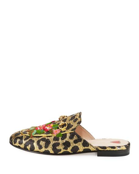 Gucci Metallic Leopard Flat Mule