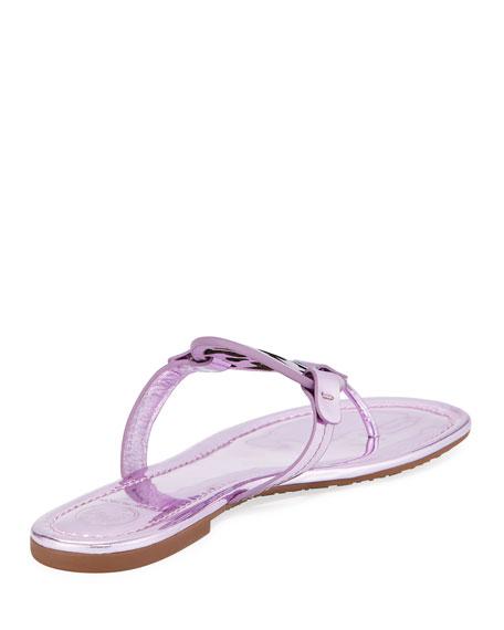 Miller Metallic Flat Slide Sandal